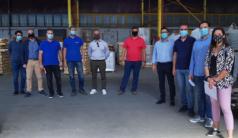 Συνάντηση στις εγκαταστάσεις της Exalco Α.Ε. στο Κουλούρι